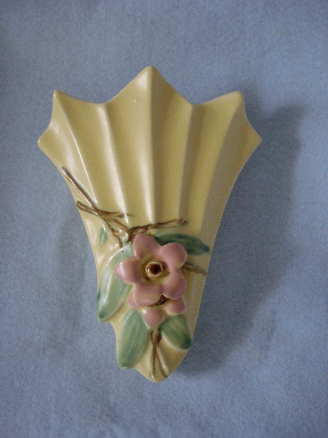 McCoy Pottery Light Yellow Blossomtime Wall Pocket