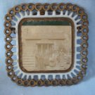 Old Milk Glass Westmoreland Keystone Plate with Photo