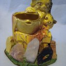 McCoy Kittens with Gold Trim in Quartz Souvenir Base