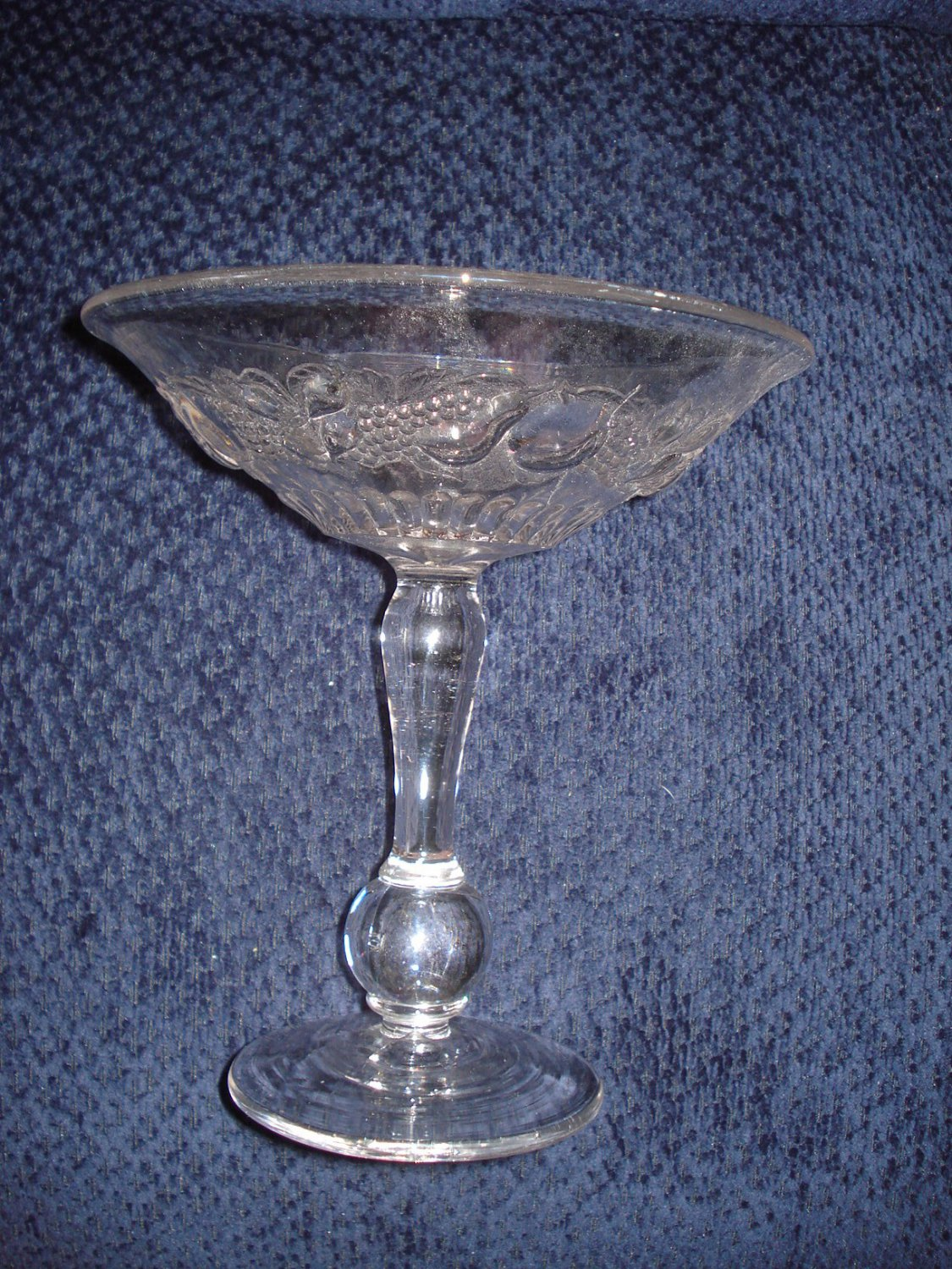 "Westmoreland Della Robia 8"" Ball Footed Compote, Crystal"