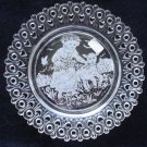 "Westmoreland Mary Had a Little Lamb decoration on a 5.5"" Lacy Edge Clear Plate"