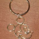NEW 23kT  DISNEY MICKEY MOUSE LUXURY KEY RING CHAIN NEW