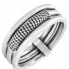 STERLING SILVER euro DESIGNED RING 6