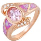 Brand New Ring With 2.53ctw Opals 14K/925
