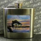 Colibri BRUSH satin  fishing FLASK 6oz