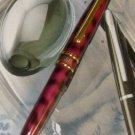 Cross RED MARBLED Ballpoint Pen 23K   & 5 REFILLS