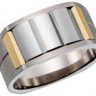 Dolan Bullock Austria 18K Tungsten Titanium Ring SZ11