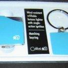 Colibri JET TORCH LIGHTER SET NEW GIFT  BOX BLUE