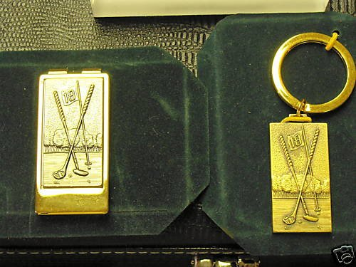 Colibri GOLFERS KEYRING  With Gold