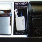 Colibri Sapphire Silver satin Lighter w/case