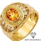 Exquisite  New Ring Genuine CITRINE  14K/9.25