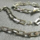 Colibri  stainless steel  square link necklace bracelet