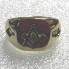 NEW 18KT GP Gold  Masonic Mason Ring Size 10