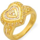 KREMENTZ  RING Heart Ring  Clean DIAMONDS   14K/925