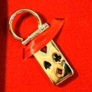 Colibri gift boxed  POKER CASINO KEY RING