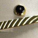 Colibri  TIE PIN CLIP set  GOLD SHARP