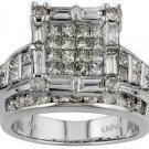 New Ladies 2.25 Ct Diamond Ring 14KT Gold