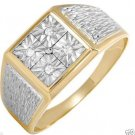 Gentlemens  Ring With Genuine Diamonds Crafted  2 tone