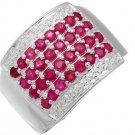 New Ring With 1.60ctw Genuine Rubies Made 925 Sterling