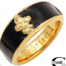 JUST CAVALLI Stunning Brand New Band Ring SS GOLD 8