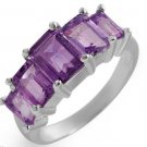 Brand New Ring With 2.90ctw Genuine Amethysts