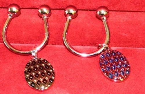 Dolan Bullock diamond enamel his & hers key ring 92.5