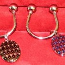 Dolan Bullock diamond enamel his & hers key ring 92.5