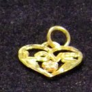 krementz solid gold heart necklace  or charm love
