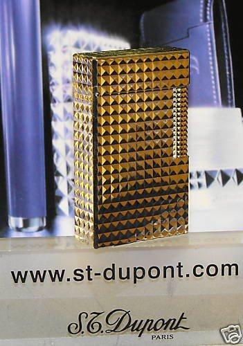 S.T. DuponT Palladium Plate Diamond Head LIGHTER