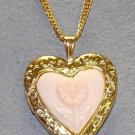 New Colibri Krementz 14K GF  PORCLEAN  Locket $79