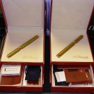 S.T.  Dupont  SHANTUNG GOLD  FOUNTAIN  PEN