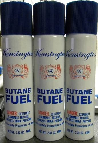 3 CAN KENSINGTON  COLIBRI PREMIUM  butane lighter fluid