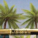 Diamond pen clip lighter black laquer & gold roman