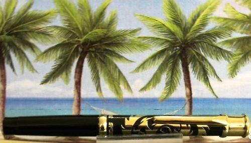 Diamond pen clip lighter black laquer & gold dragon