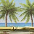 Diamond pen clip lighter black laquer & gold checkered