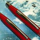 CROSS CENTURY fire red classic ballpoint pen pencil set