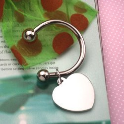 2 COLIBRI Key Chain Wed Favors Open Heart Key Ring