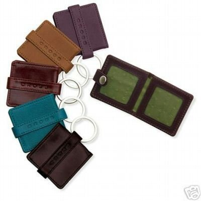 CROSS LEATHER PHOTO KEY FOB TOFFE  AC124-4