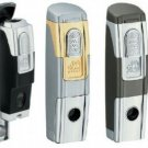 Colibri JET TORCH PUNCH  Cigar Lighter Silver/ gold