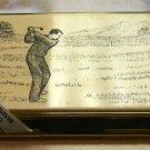 COLIBRI SCRIMSHAW GOLF BUISNESS CARD CASE