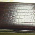 Colibri Cigarette Case  LEATHER ALLIGATOR PATTERN