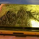 Colibri Cigarette Case  DIAMOND CUT GOLD PLATED