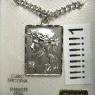 Princess Pride  sterling silver jesus necklace medal