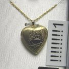 krementz NECKLACE LOCKET angel 14K GOLD Cuf-pf