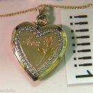 Krementz  10KT  YELLOW   gold  mom locket  & CHAIN