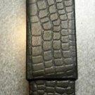 COLIBRI New Black Leather HARD CASE CIGAR  alligator