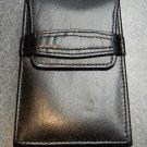 COLIBRI New Black Leather HARD CASE CIGAR  3x6 in
