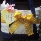 waiting on baby girl Polka Dot Survival Tote