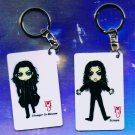 "Michael Jackson Anime Keychain ""Scream""  & ""Stranger In Moscow"""