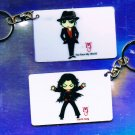 "Michael Jackson Anime Keychain ""Earth Song""  & ""You Rock My World"""